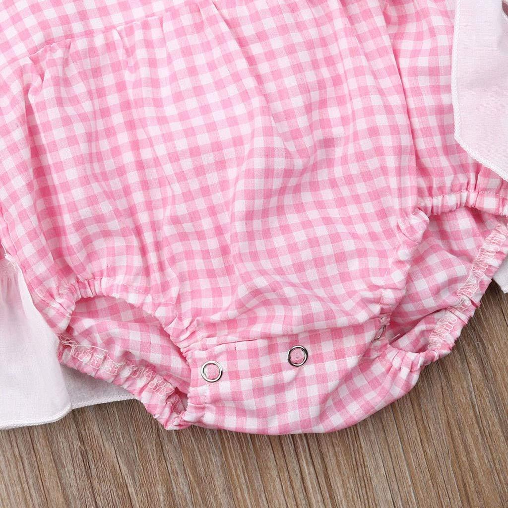 Pantaloncini A Quadri con Fiocco Tuta Bimba Estivi 3-24 Mesi Completo Bambini Due Pezzi Set Tute Cotone Ragazza Bambino Femmina Neonata Mbby Bambina Maglietta Tinta Unita
