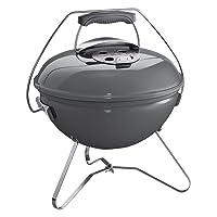 Kugelgrill Weber Smokey Joe Premium 37 Edelstahl klein silber Balkon Camping Picknick ✔ Deckel ✔ rund ✔ tragbar ✔ Grillen mit Holzkohle ✔ mit Dreibeinen