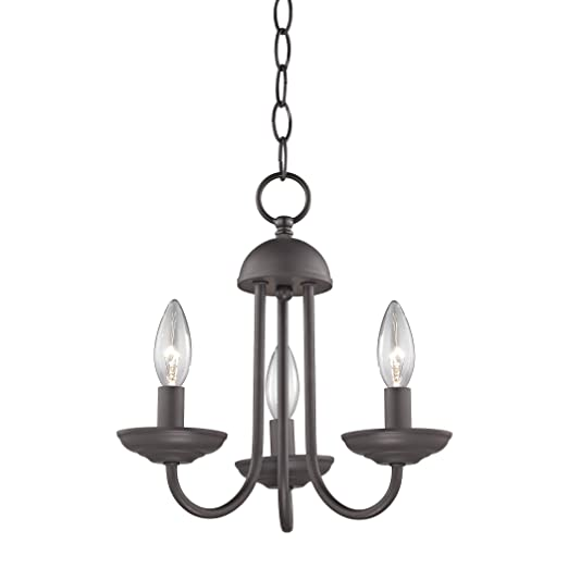 Amazon.com: Williamsport 3 luz Mini lámpara de araña en ...