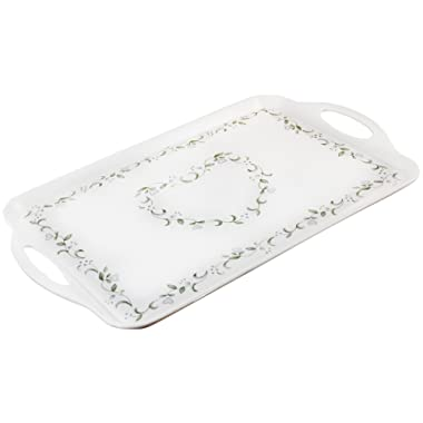 Corelle Coordinates by Reston Lloyd Melamine Rectangular Serving Tray with Handles, Country Cottage