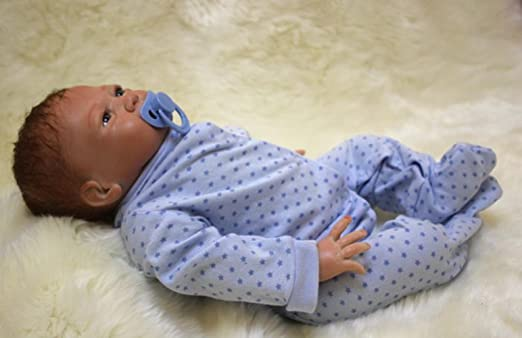 Amazon.com: Homai - Muñeca de silicona suave de 17.7 in para ...