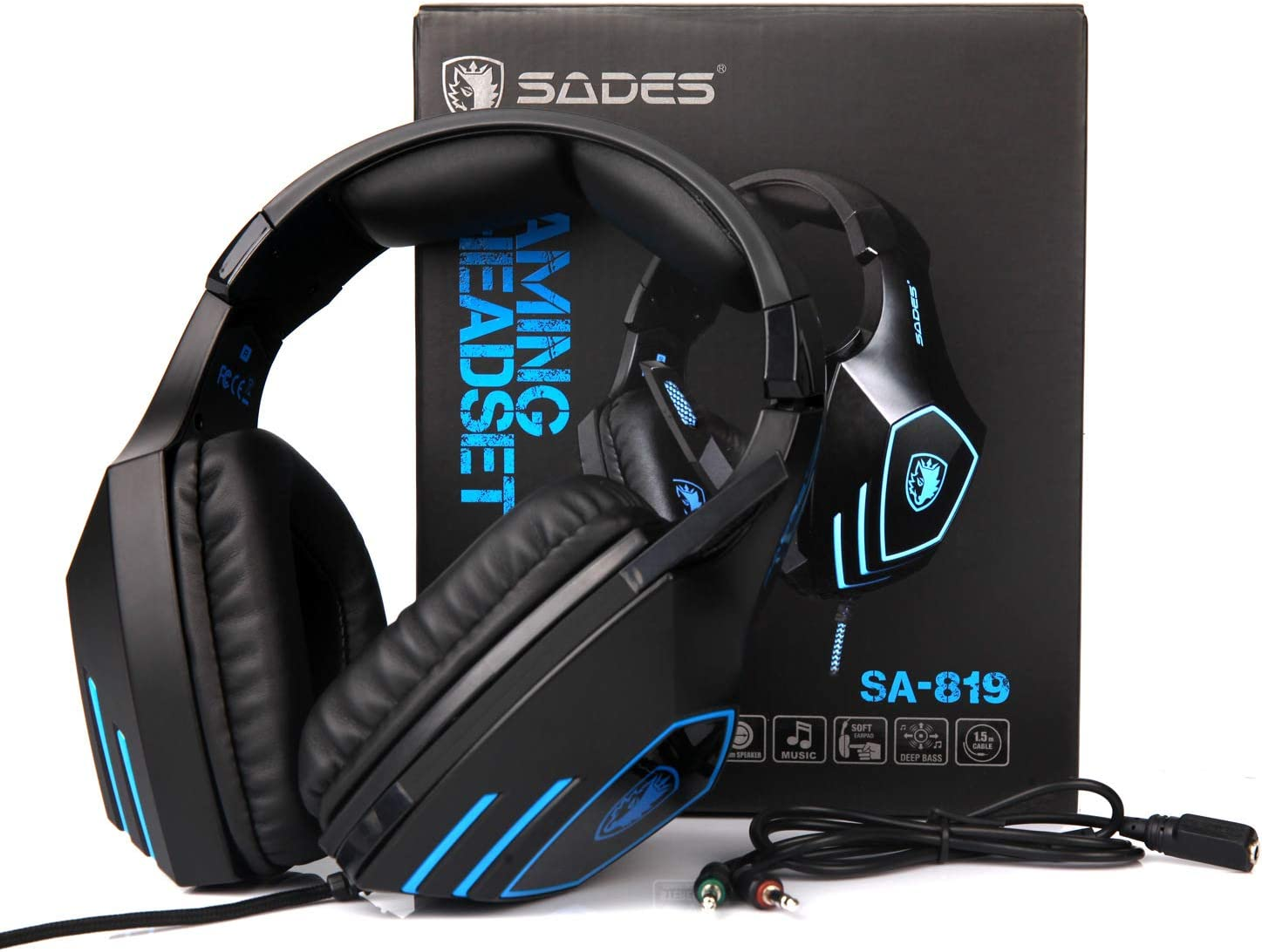 Alician SADES SA-819 Gaming Headphone Support PS4 3.5mm Wired Stereo Game Headset with Microphone