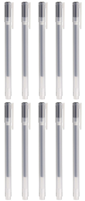 Bolígrafo MoMa MUJI de tinta de gel, 0,38 mm, color negro (10 unidades)