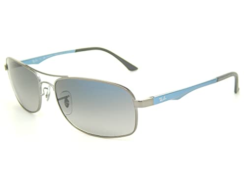 d7a35cef8d Ray Ban RB3484 029 78 Matte Gunmetal Crystal Blue Gray 60mm Polarized  Sunglasses  Amazon.ca  Shoes   Handbags