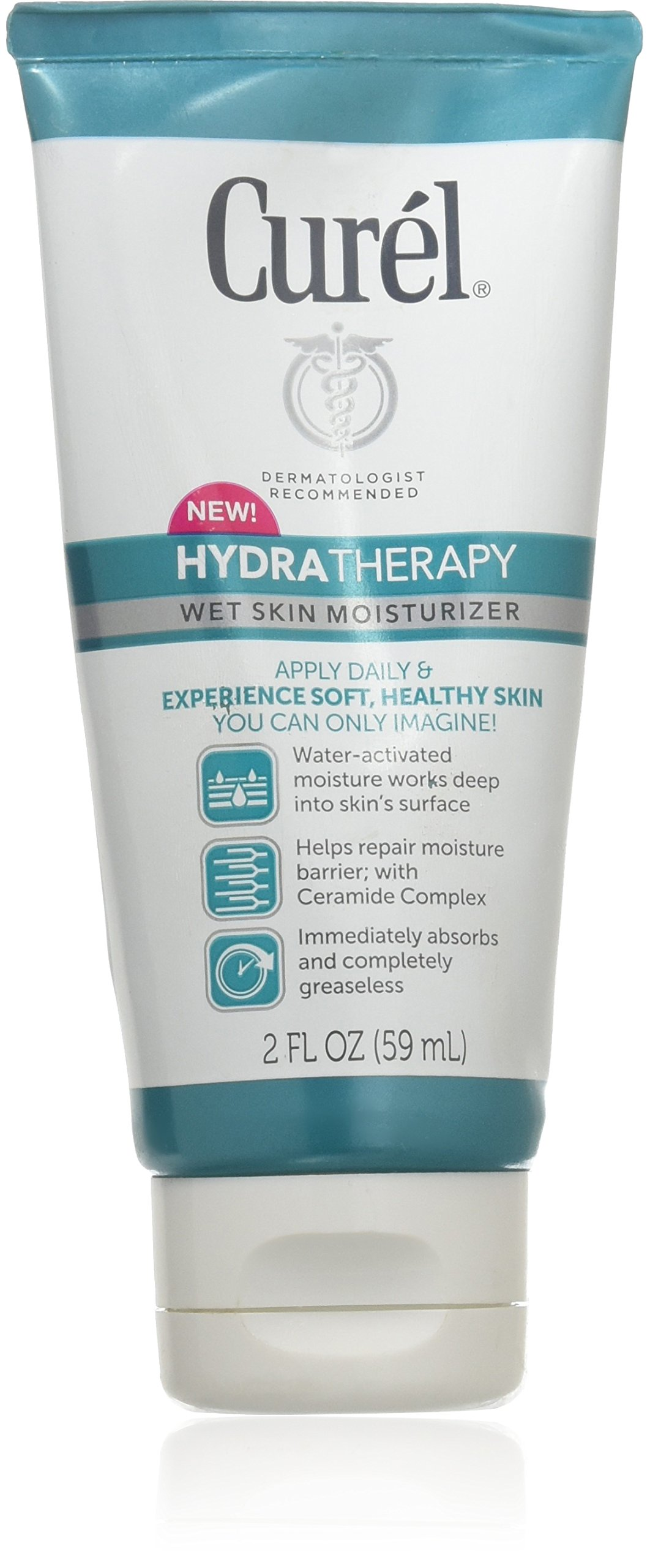 Curel Hydra Therapy Wet Skin Moisturizer! Dermatologist Recommended! Includes One 2 Ounce Tube! For Healthier Looking Skin! by