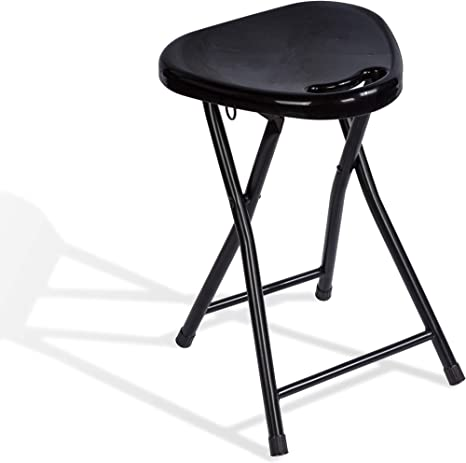 Atlantic 4 Pack Folding Stool With Handle Black Furniture Decor Amazon Com