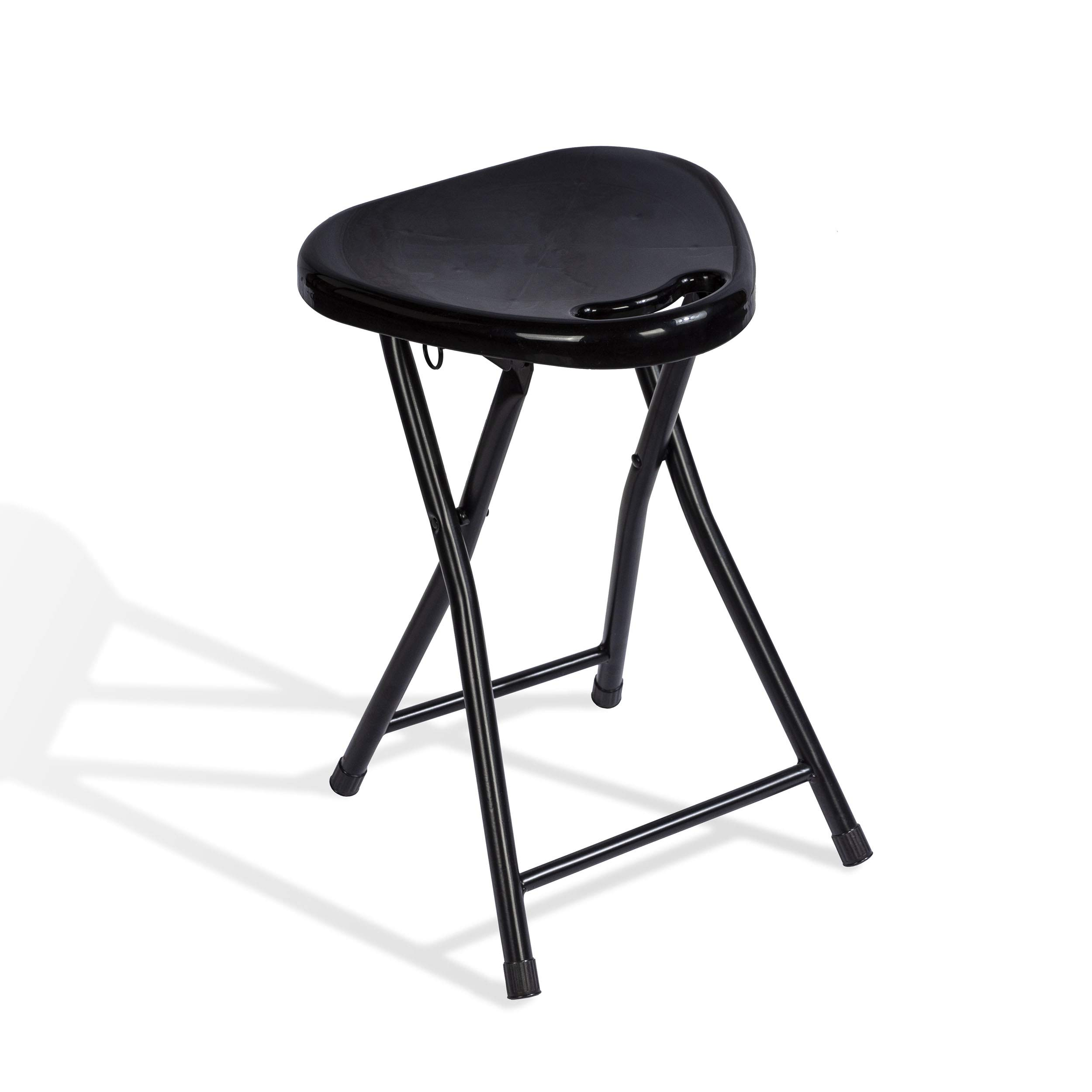 Atlantic 4 Pack Folding Stool with Handle, Black by Atlantic