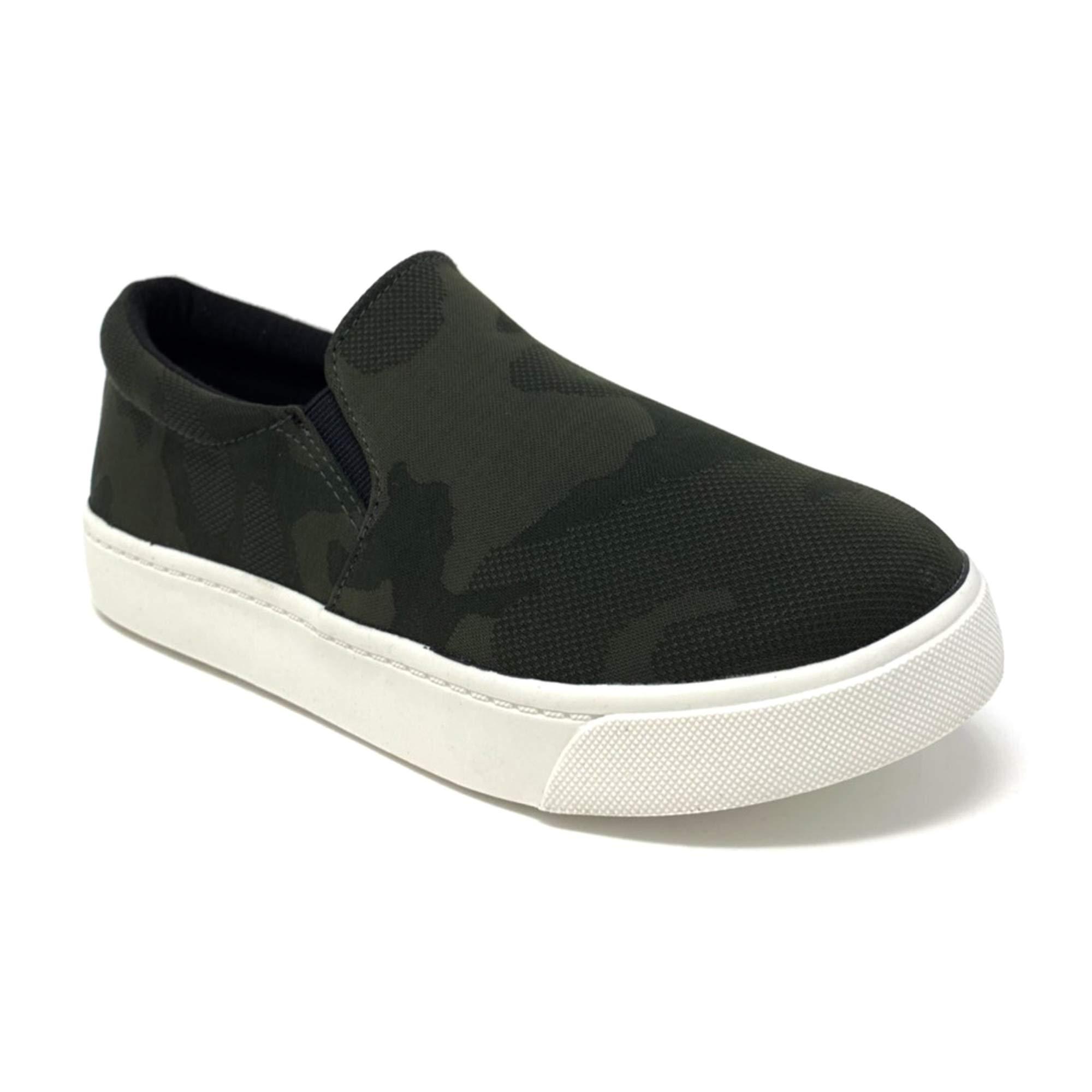 SODA Shoes Women's Tracer Slip On White Sole Shoes (8 M US, D-KHAr)