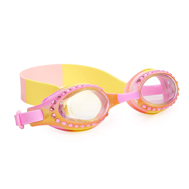 UV Protection with Hard Travel Case Bling 2O Kids Swimming Goggles Non Slip Swim Goggles for Girls Anti Fog No Leak 8+
