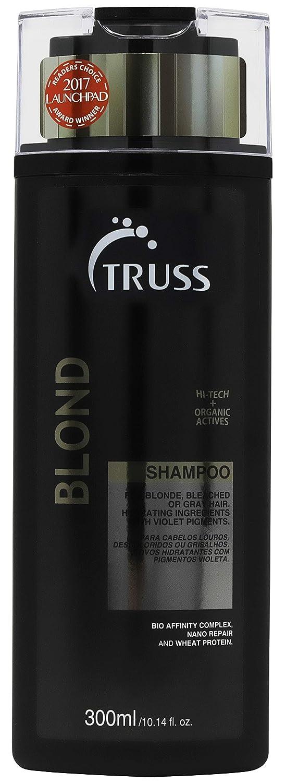 Truss Blond Shampoo - Violet Purple Shampoo For Blonde, Bleached & Gray Hair - Intensive Moisture, Toning Shampoo for Bleached, Highlighted or Gray Hair - Controls Brassiness & Yellow or Orange Tones