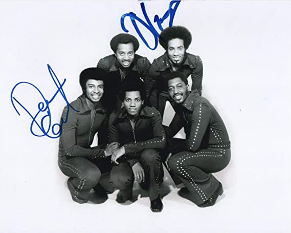 Otis Williams & Dennis Edwards of The Temptations REAL hand SIGNED