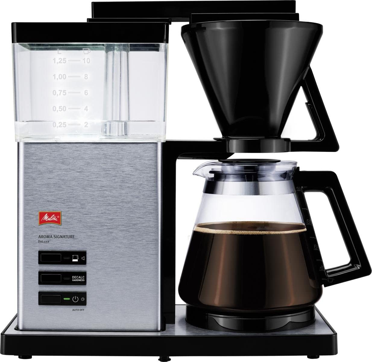Melitta Aroma Signature Deluxe 1007 02 Filter Coffee Machine With Glass Jug Timer And Programmable Warmer Black