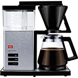 Melitta Filter Coffee Machine with Glass Pot, Timer and Programmable Warmer, Aroma Signature DeLuxe, Black, 1007-02