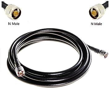 Lysignal 75-7 El cable coaxial de la pérdida baja N macho a los conectadores