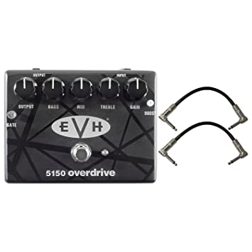 2363bc85d4e Amazon.com  Dunlop EVH 5150 Overdrive Pedal w  2 Patch Cables  Musical  Instruments