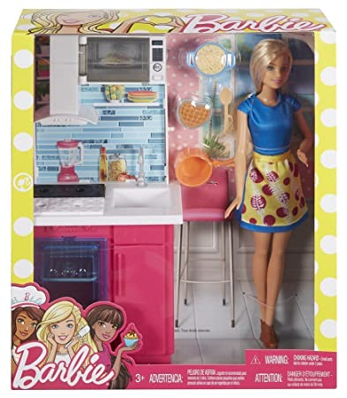 Buy Barbie Kitchen Doll For Kids Multi Color Online At Low