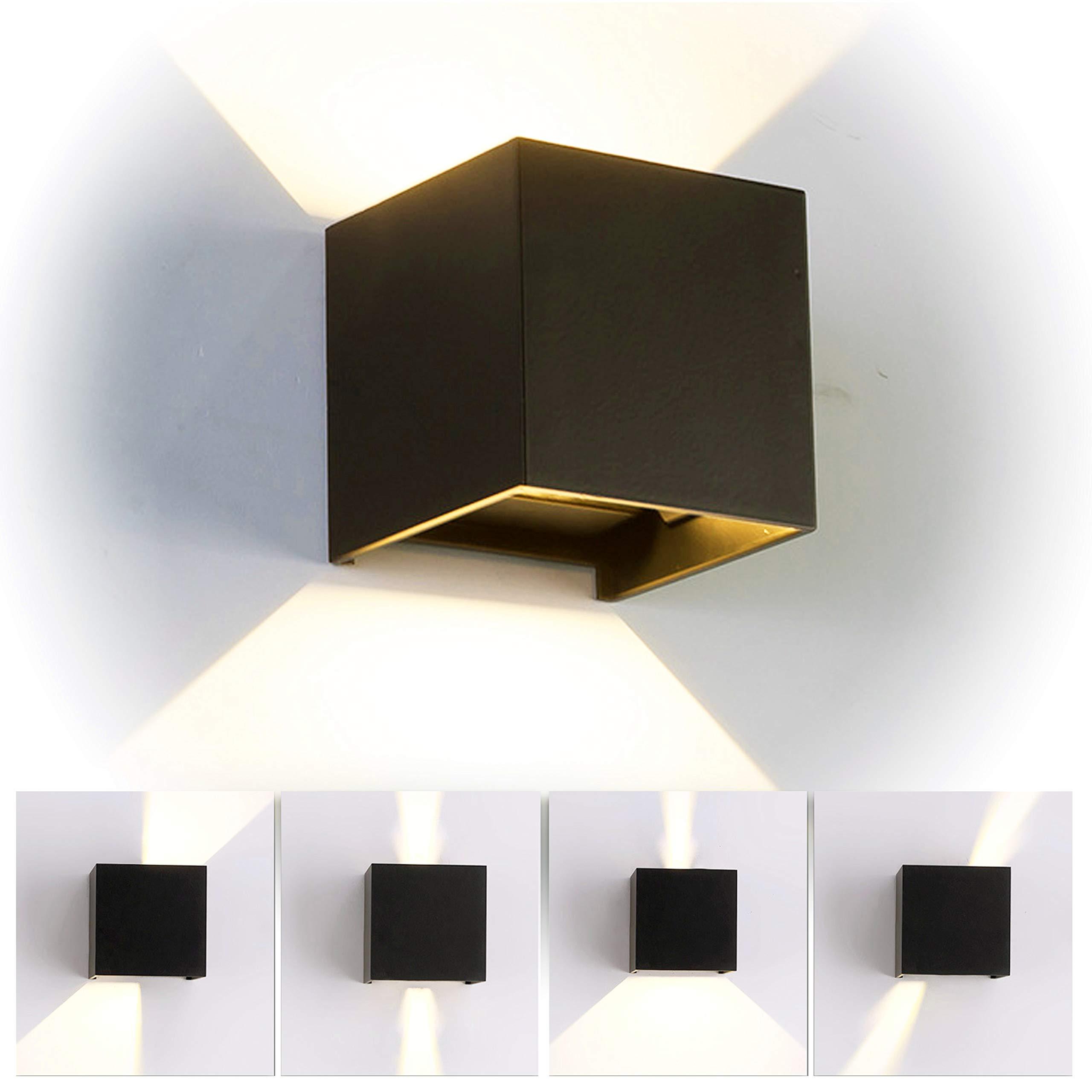 12w led applique murale chambre moderne exterieur interieur aluminium luminaires réglable lampe up and