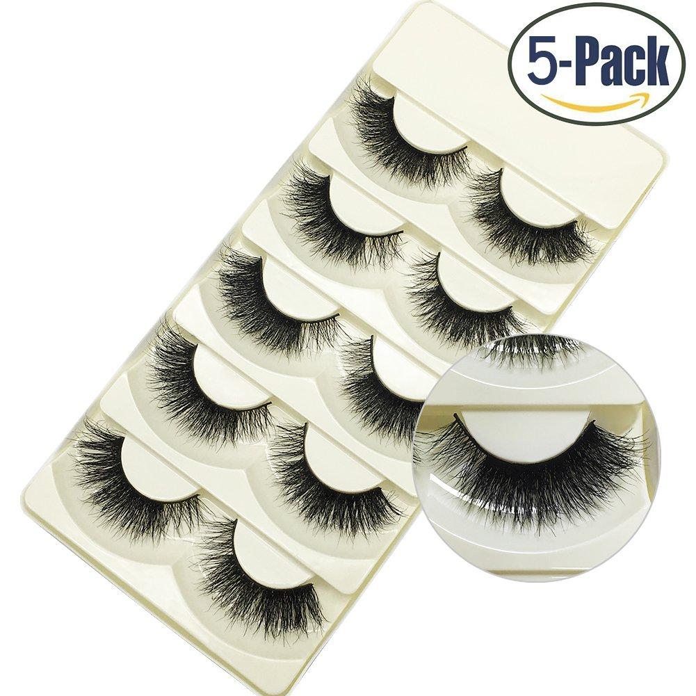 563ab10433e Faux 3D Mink Eyelashes Dramatic Makeup Thick Long Multilayer Fluffy  Hand-made False Eyelashes 5