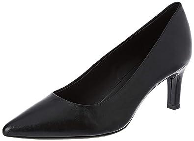 Dettagli su scarpe donna tacco medio largo Geox decoltè formali comode Nere Tg 38,5