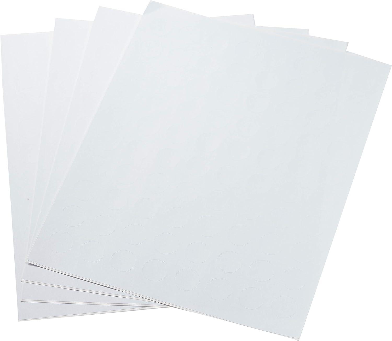 AmazonBasics Matte Print-to-the-Edge Round Labels, 3/4-Inch Diameter, 800-Pack