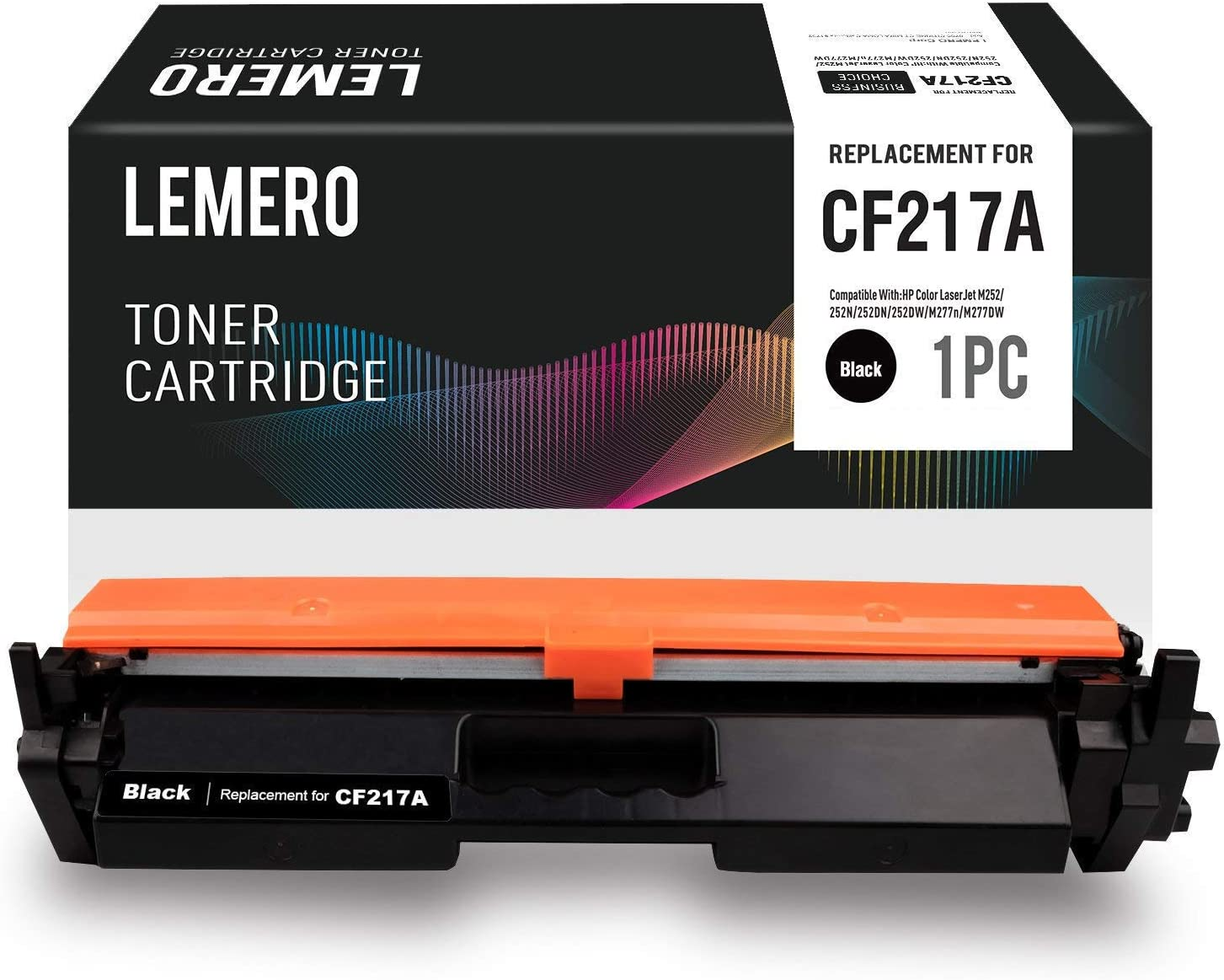 LEMERO Replacement for HP 17A CF217A Toner Cartridge with Chip - Compatible for HP Laserjet Pro M102w M130fw Laserjet Pro MFP M130nw M130fn (1 Pack)