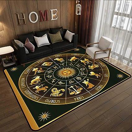 Amazon com: Rubber mat,Astrology, Wheel Zodiac Astrological Signs