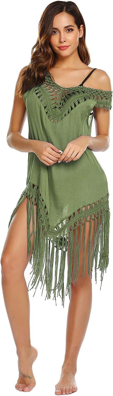 Balancora Jupe de Plage de Couleur Unie Femme Robe de Plage Piscine Cache-Maillot Bikini (S-XL)