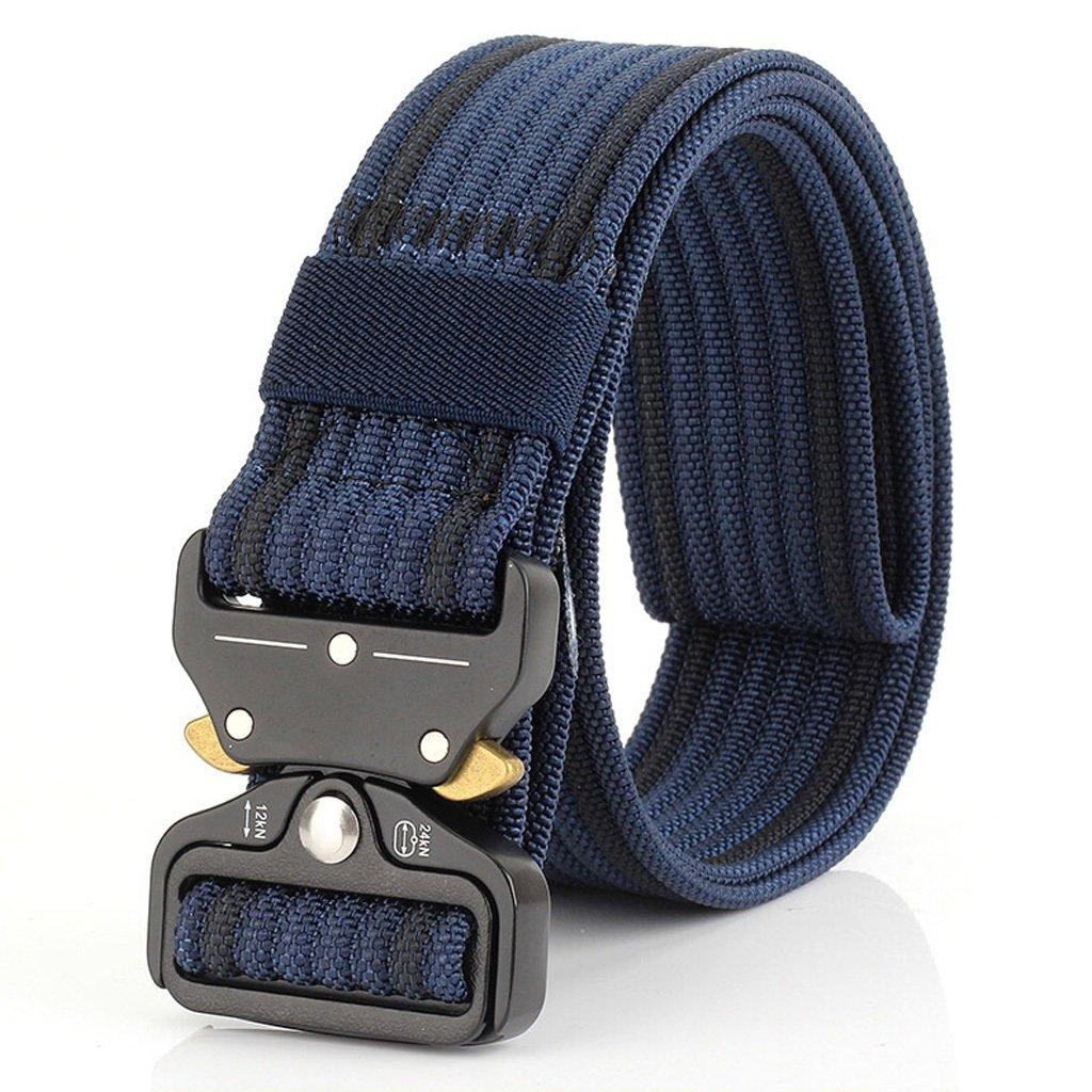 Mei Xu Belt Youth Quick Release Tactical Pants Casual Outdoor Student Nylon Canvas Belt 8 Colors Optional (Color : 2#) Mei Xu Shop
