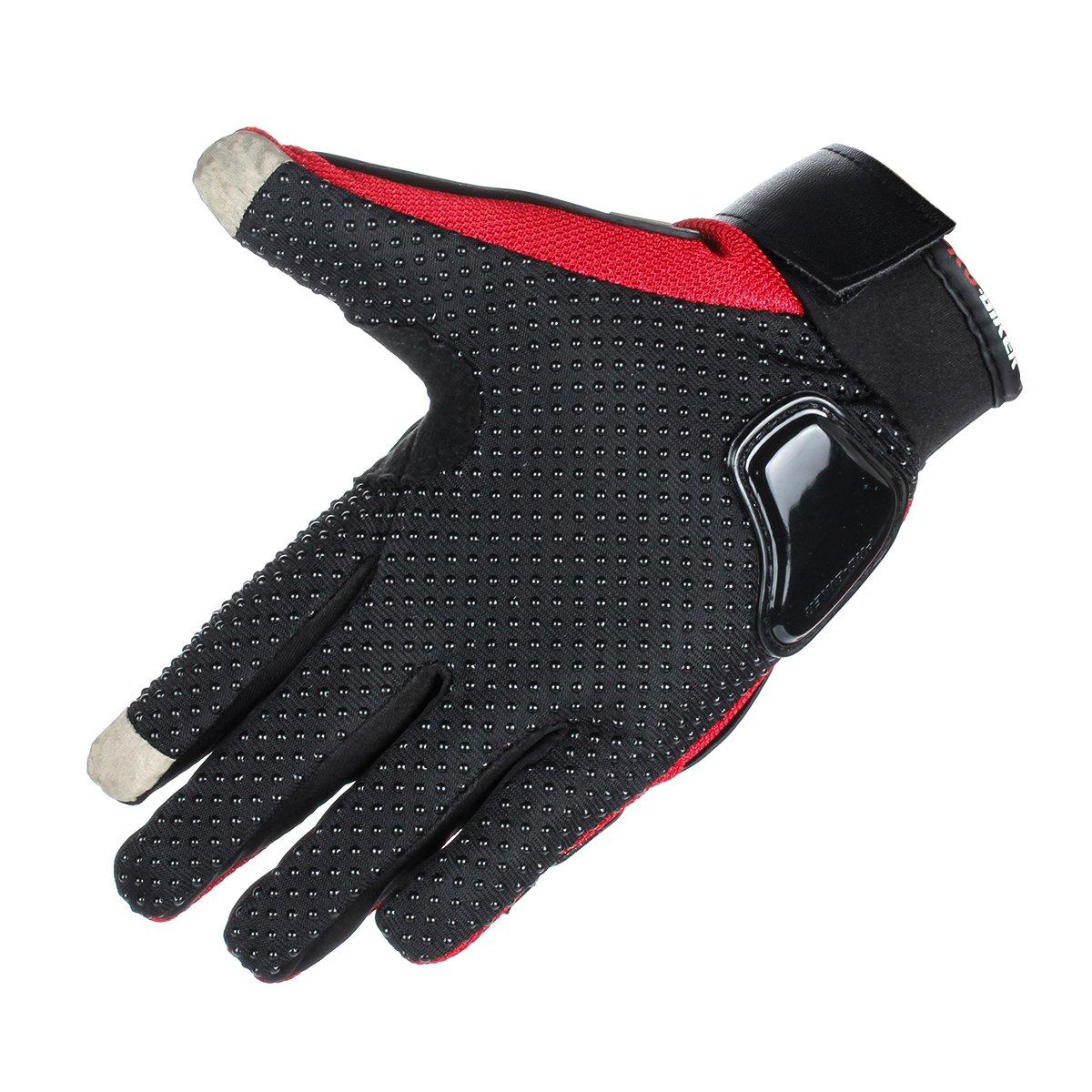 M, Black GES Men Outdoor Motorbike Waterproof Gloves Motorcycle Full Finger Touch Screen Racing Motocross Gloves