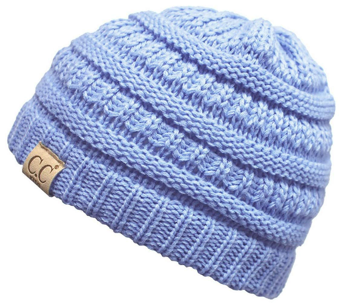 Funky Junque's CC Kids Baby Toddler Ribbed Knit Children's Winter Hat Beanie Cap H-3847-816.40-FJ