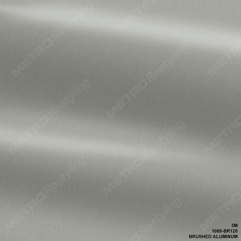 "3M 1080 BR120 BRUSHED ALUMINUM 60""x24"" Vinyl Wrap"
