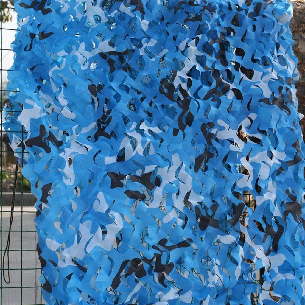 迷彩ネット、海迷彩プール日焼け止めスカイブルーネイビー迷彩装飾 (サイズ さいず : 10 m × 20 m) B07QQKK6YD  4m × 5m 4m × 5m