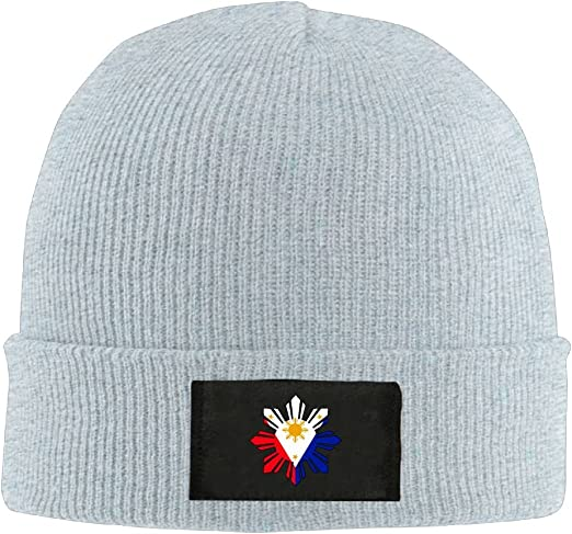 Unisex Philippine Sun Flag Knitting Hat 100/% Acrylic Thick Beanies Cap