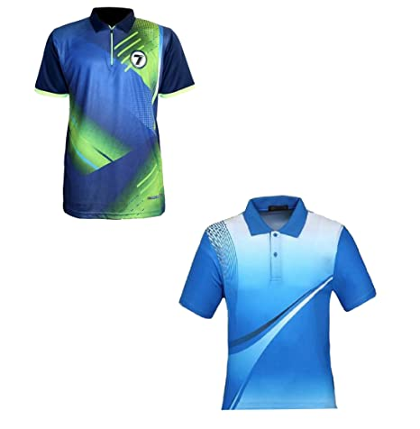 032fc193 Men's Printed Polyester Sports & Outdoor T-shirts (Combo Of 2, Blue-Green &  Sky Blue): Amazon.in: Sports, Fitness & Outdoors