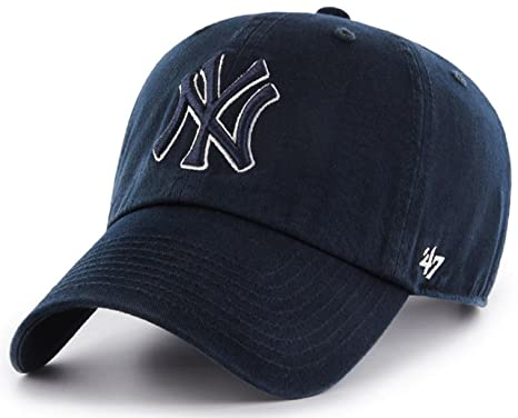 a2e4d52e789 Image Unavailable. Image not available for. Color   47 Authentic New York  Yankees MLB Tonal Pop CLEAN UP Cap- Navy