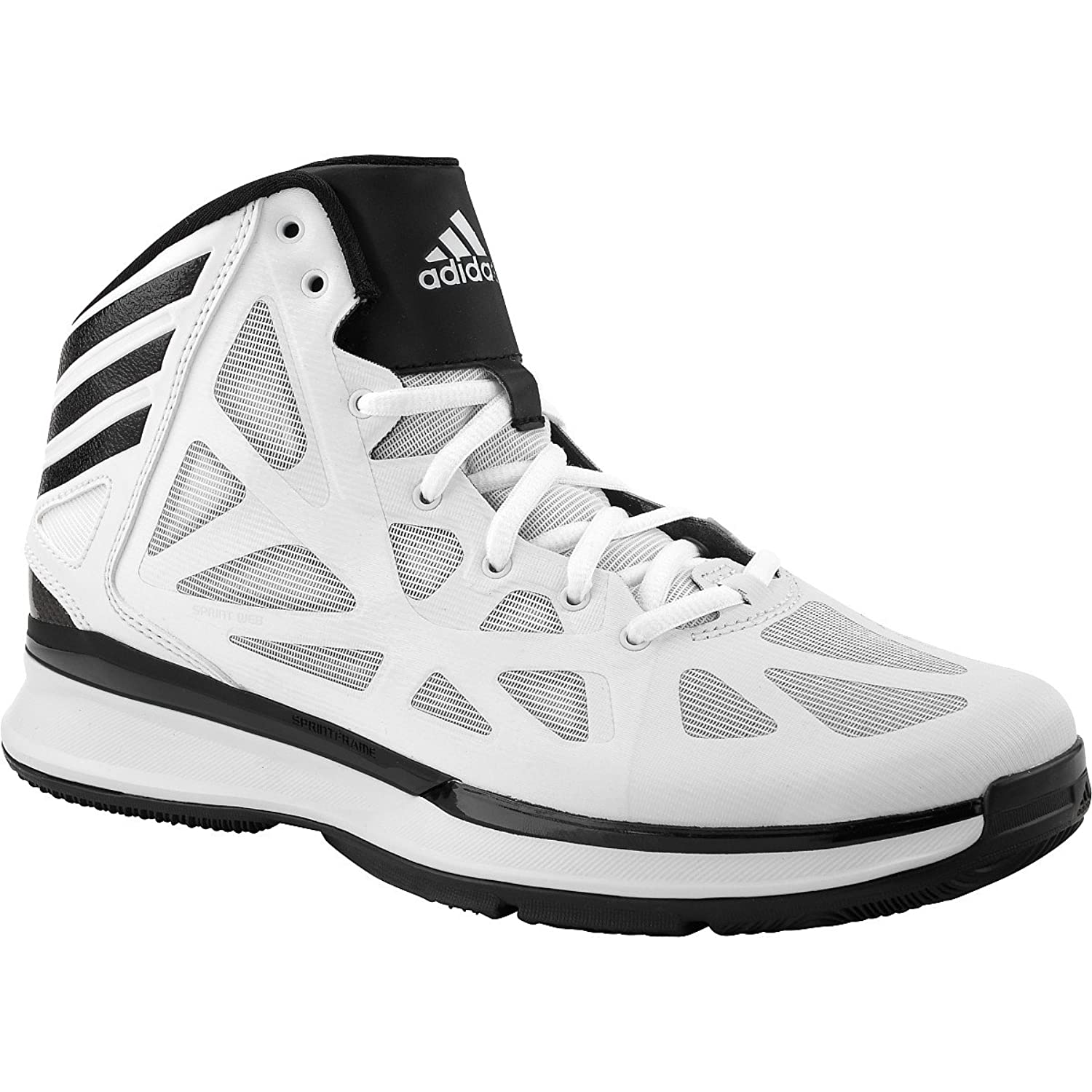 adidas basketball shoes white. amazon.com | adidas crazy shadow 2.0 mens basketball shoe 8 white/black shoes white z