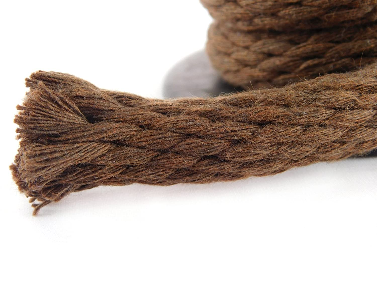 Ravenox Solid Braid Cotton Rope Macrame Projects Made in The USA Variety of Colors and Lengths Clothesline Utility Rope and More Used as Sash Cord