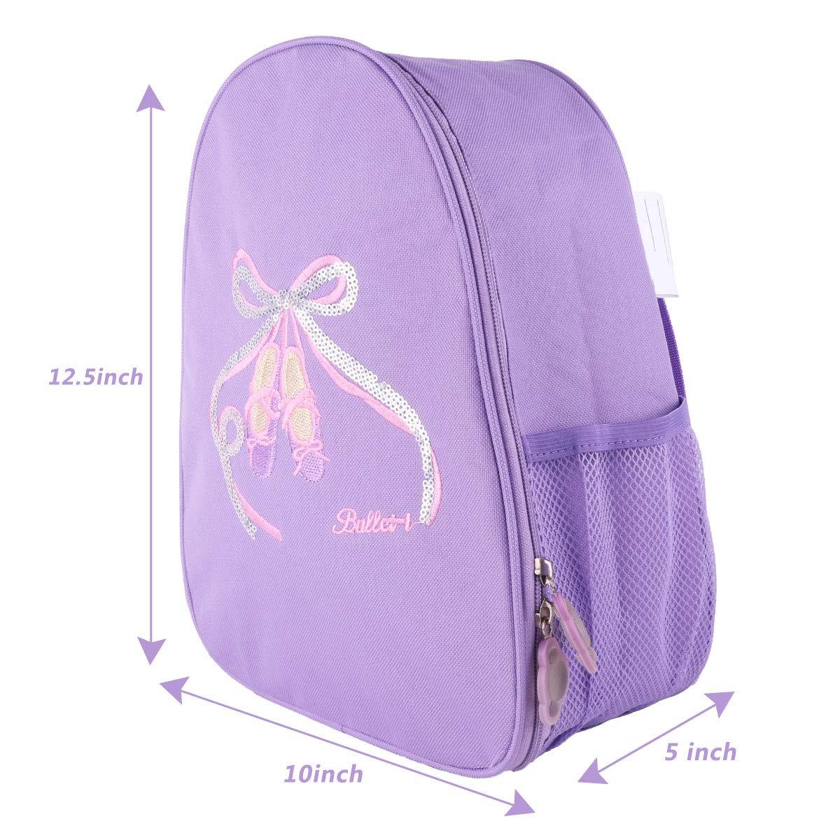 CHICTRY Little Girls Dance Shoulder Bag Dancing School Ballet Gym Backpack