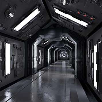 Amazon Com Aofoto 10x10ft Spaceship Hallway Space Station Backdrop Universe Exploration Science Fiction Spacecraft Planet Photography Background Kid Boy Girl Adult Portrait Photo Studio Props Vinyl Wallpaper Camera Photo