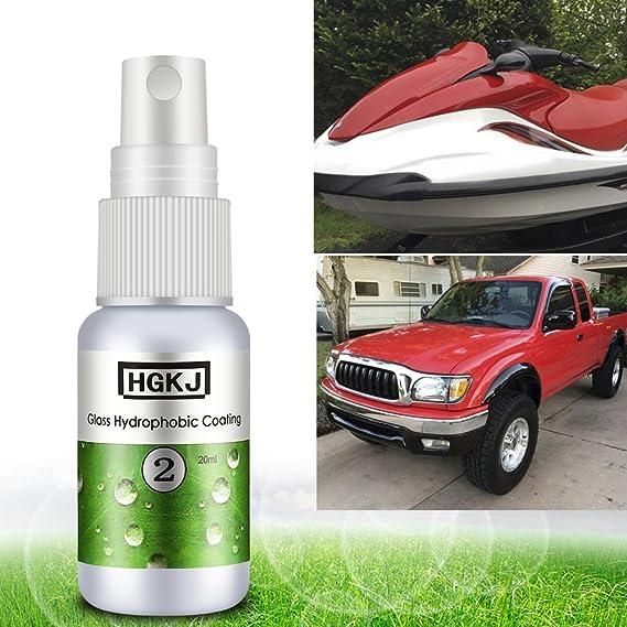 Dailyinshop Accesorios Auto del Revestimiento hidrofóbico a Prueba de Lluvia del Vidrio del Coche para Conducir con Seguridad (Color: Blanco y Verde): ...
