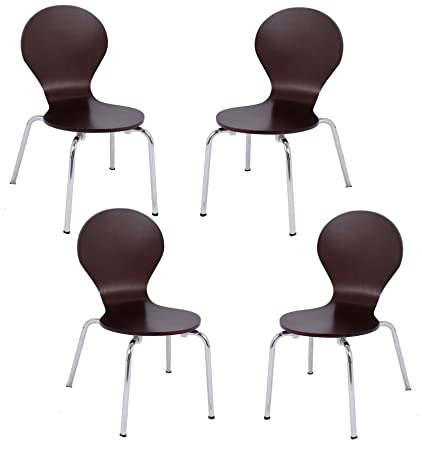 BirdRock Home Childrens Chairs | Chocolate | Set Of 4 | Kids Playroom  Furniture | Modern