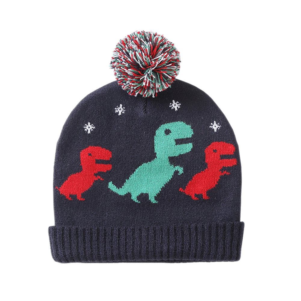Tortor 1bacha Boy Baby Hat Dinosaur Patterned Toddler for Fall Winter Beanie