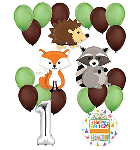 Woodland Critters Creatures 1st Birthday Party Supplies And Balloon Decorations Amazonin Toys Games
