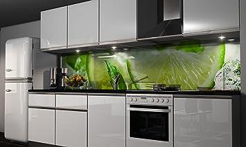 Küchenrückwand-Folie Grüne Lemonade Klebefolie Spritzschutz Küche  Fliesenspiegel Möbel Rückwand selbstklebend | mehrere Größen | DIY