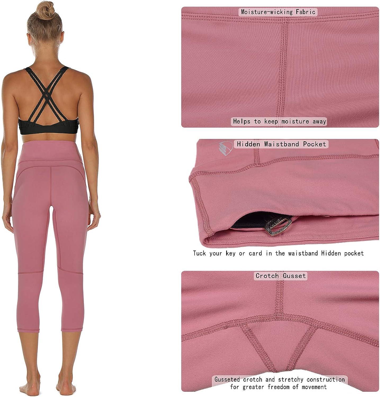 Mallas deportivas 3//4 para mujer cintura alta icyzone