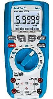 Peak Tech truerms profesional digital multímetro 60000 cuentas, IP67 impermeable, Cat III 1000 V