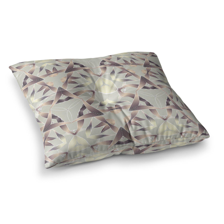 26 x 26 Square Floor Pillow Kess InHouse Angelo Cerantola Supreme Multicolor Orange