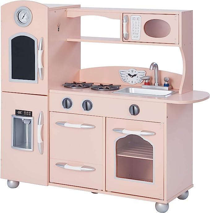 Kitchens Pink Retro Refrigerator Kidkraft 2pc Kitchen Playset Oven Freezer Wood Plastic Woodland Resort Com