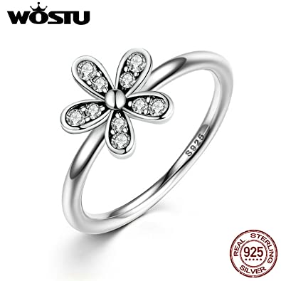 a5335e3cd Image Unavailable. Image not available for. Color: Slyq Jewelry 925  Sterling Silver Dazzling Daisy Meadow Stackable Ring ...