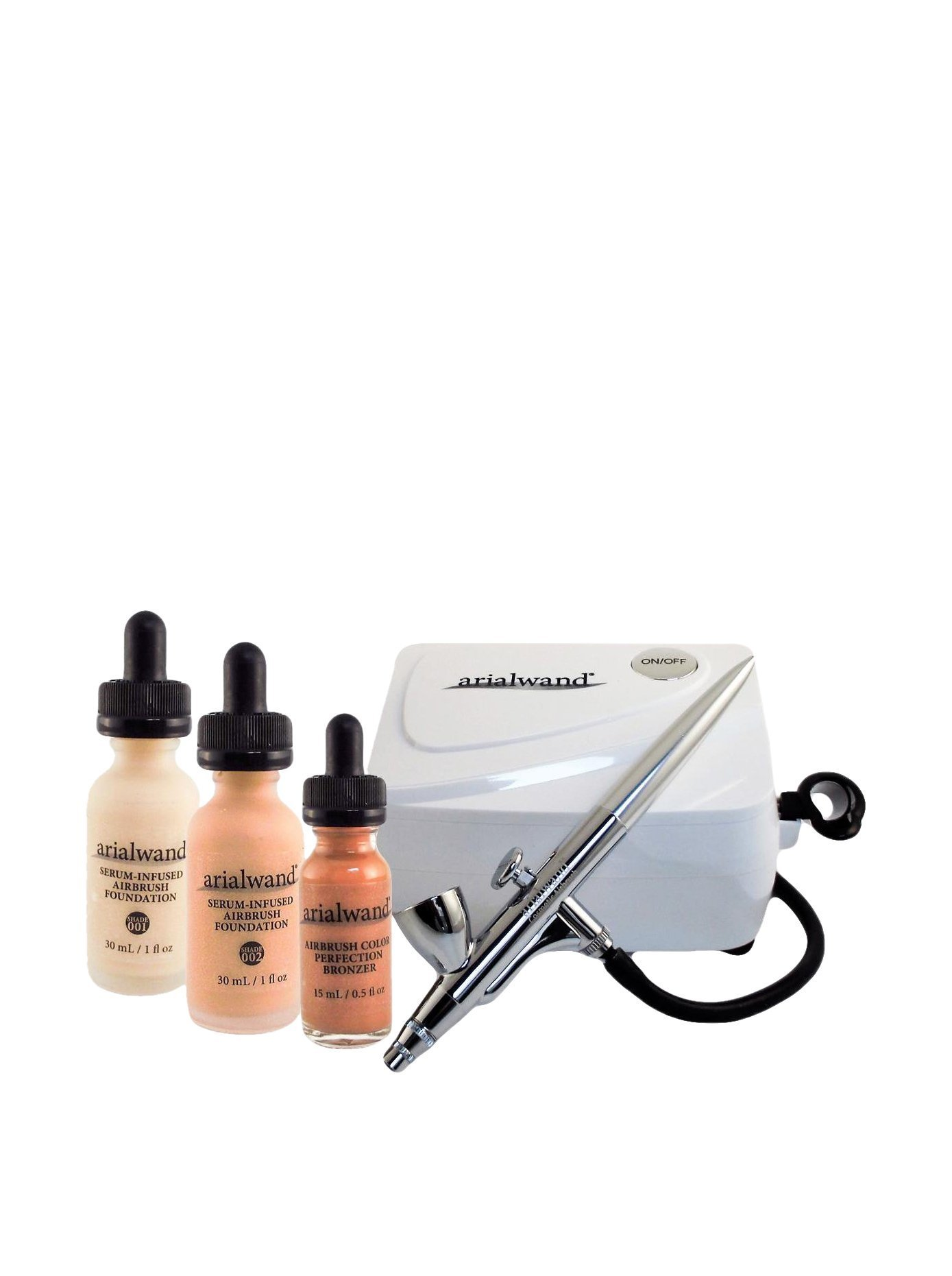 Arialwand Airbrush Kit with Serum Infused Foundation, Fair
